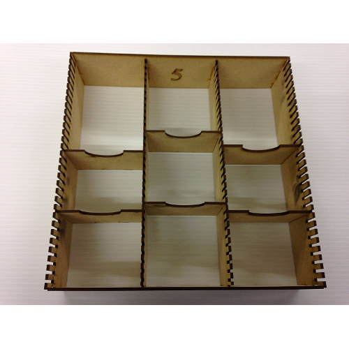 10 PLAIN MDF DIVIDERS FOR PATHFINDER STORAGE BOX TRADING CARDS FANTASY GIFT