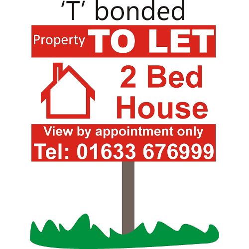 Property to let sign board Personalised x 2 01633676999