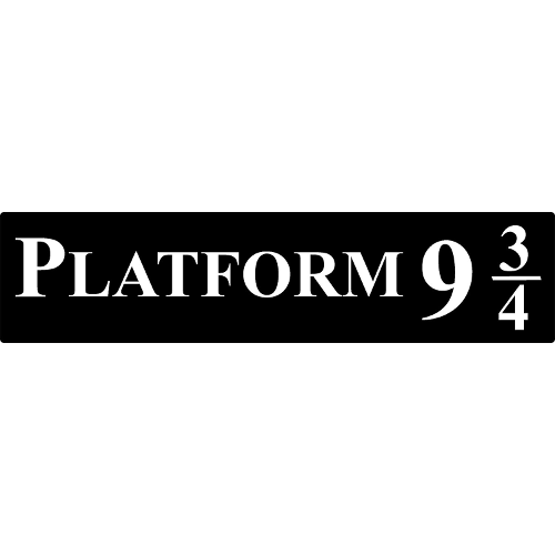 plastic harry potter platform 9 3 4 sign victoria 39 s pearls. Black Bedroom Furniture Sets. Home Design Ideas
